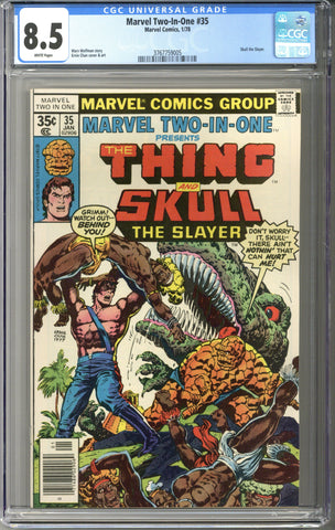 Marvel Two-In-One #35 CGC 8.5