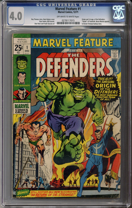 Colorado Comics - Marvel Feature #1  CGC 4.0