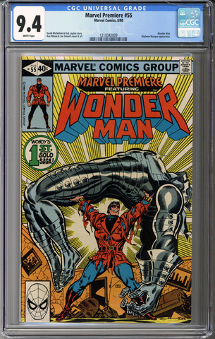 Colorado Comics - Marvel Premiere #55  CGC 9.4