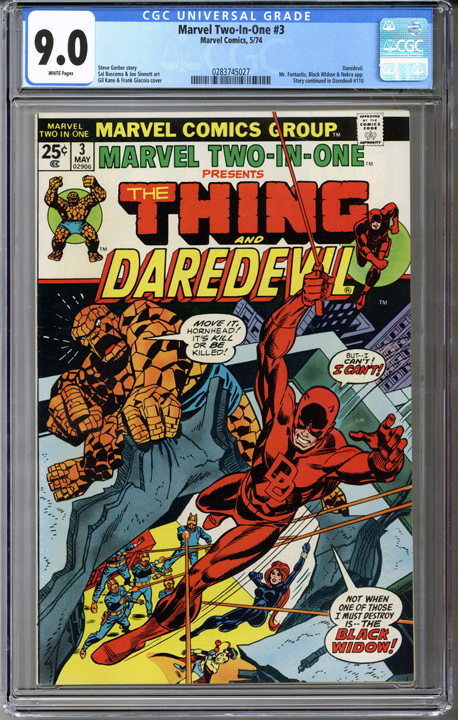 Colorado Comics - Marvel Two-in-One #3  CGC 9.0