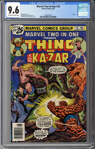 Marvel Two-In-One #16 CGC 9.6