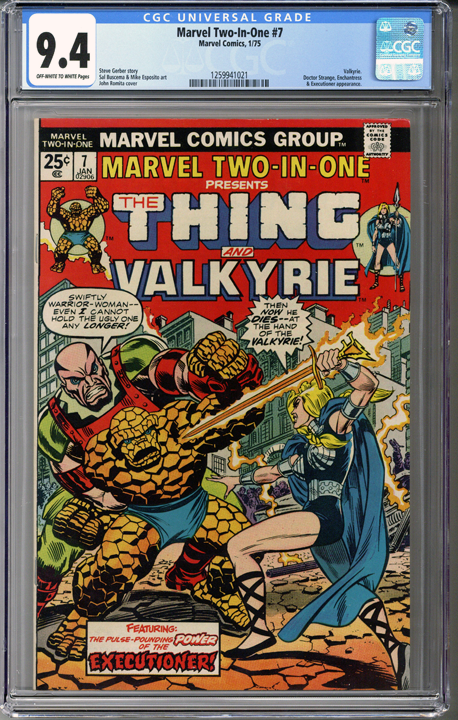 Marvel Two-In-One #7 CGC 9.4