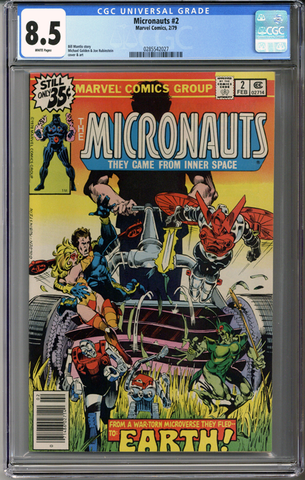 Colorado Comics - Micronauts #2  CGC 8.5