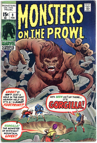 Monsters on the Prowl #9 VG