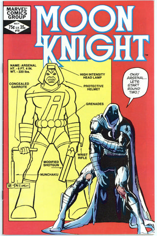 Moon Knight #19 thru 24 VF to NM (6 books total)