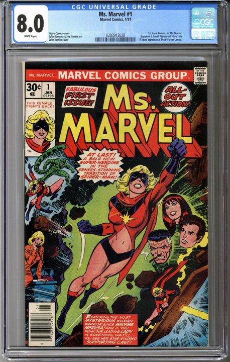 Colorado Comics - Ms. Marvel #1  CGC 8.0
