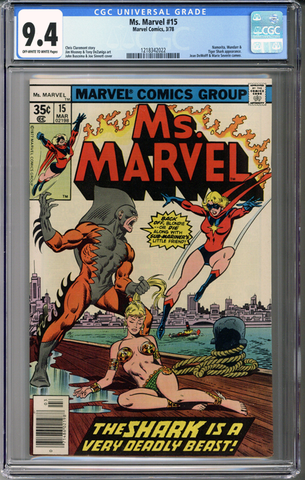 Colorado Comics - Ms. Marvel #15  CGC 9.4