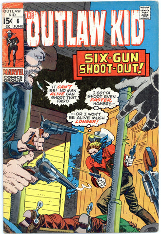 Outlaw Kid #6 VG