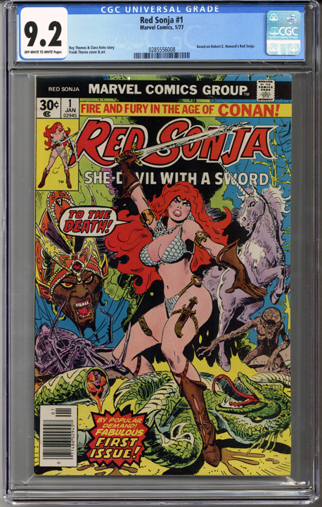 Colorado Comics - Red Sonja #1  CGC 9.2