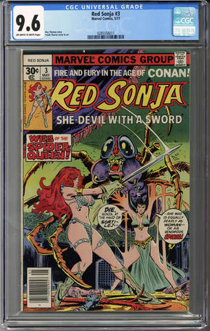 Colorado Comics - Red Sonja #3  CGC 9.6