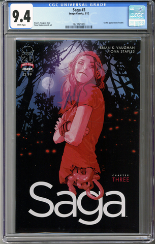 Colorado Comics - Saga #3 CGC 9.4