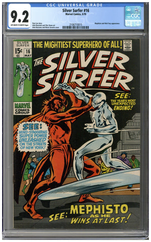 Silver Surfer #16 CGC 9.2