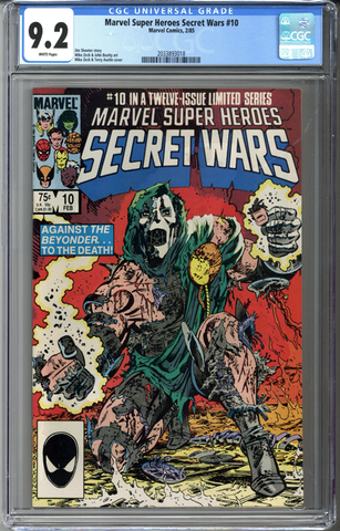 Marvel Super Heroes Secret Wars #10 CGC 9.2