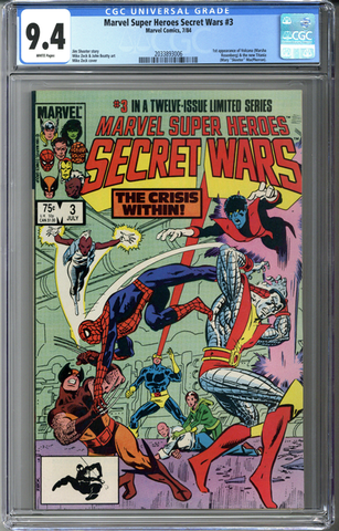 Marvel Super Heroes Secret Wars #3 CGC 9.4