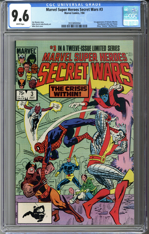 Marvel Super Heroes Secret Wars #3 CGC 9.6