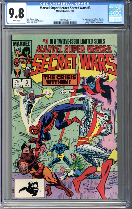 Marvel Super Heroes Secret Wars #3 CGC 9.8