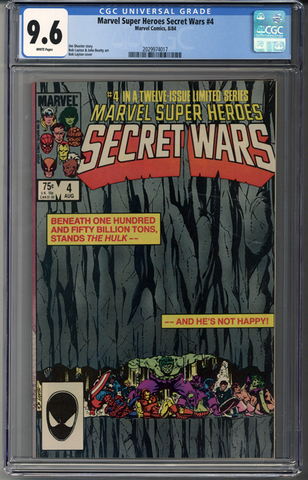 Marvel Super Heroes Secret Wars #4 CGC 9.6