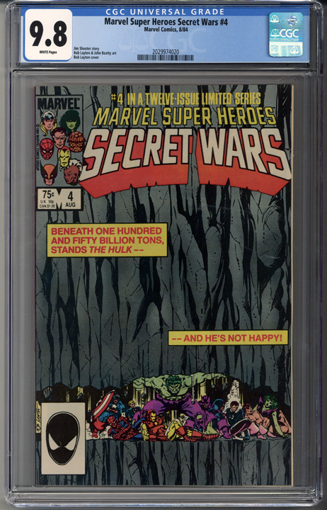 Marvel Super Heroes Secret Wars #4 CGC 9.8