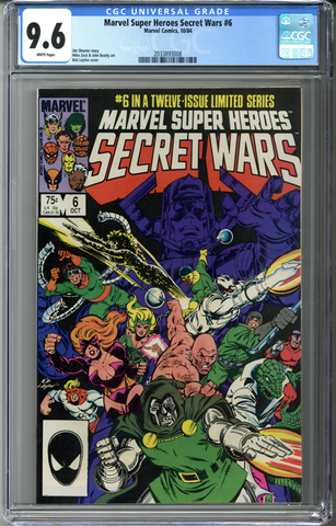 Marvel Super Heroes Secret Wars #6 CGC 9.6