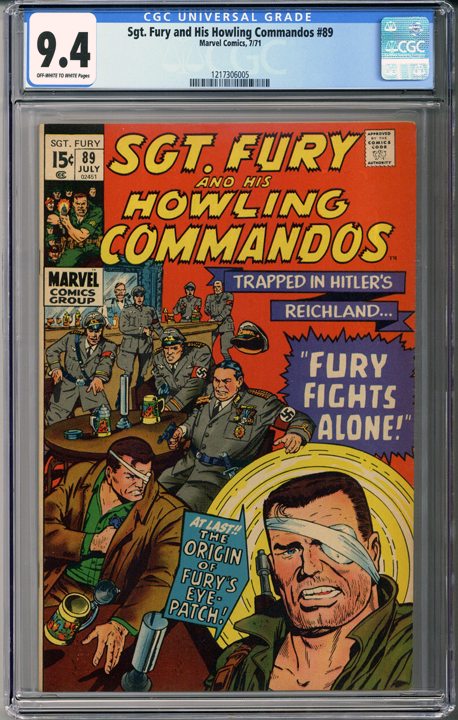 Colorado Comics - Sgt Fury and his Howling Commandos #89  CGC 9.4