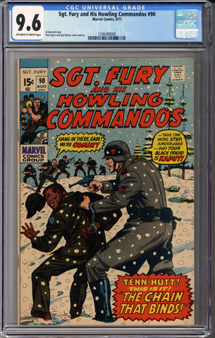 Sgt Fury and his Howling Commandos #90 CGC 9.6