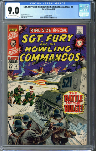 Sgt Fury and his Howling Commandos Annual #4 CGC 9.0