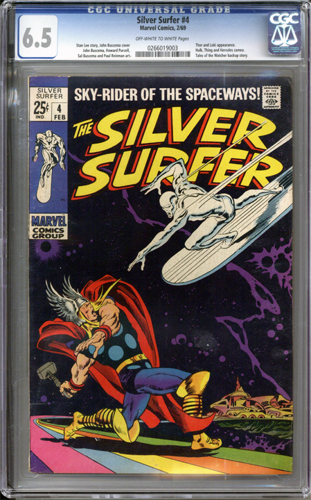 Silver Surfer #4  CGC 6.5
