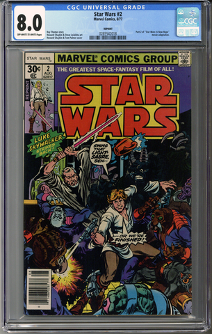 Star Wars #2  CGC 8.0 - reprint