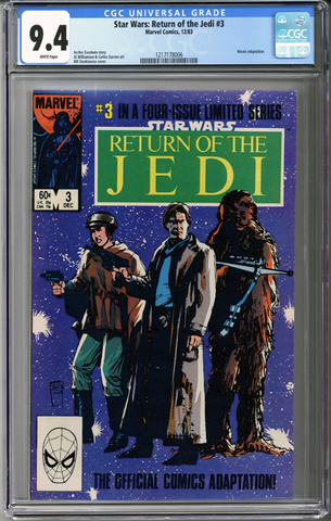 Colorado Comics - Star Wars Return of the Jedi #3  CGC 9.4