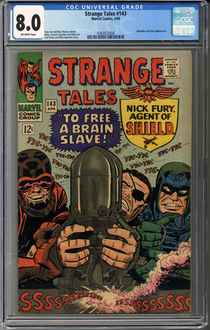 Colorado Comics - Strange Tales #143  CGC 8.0