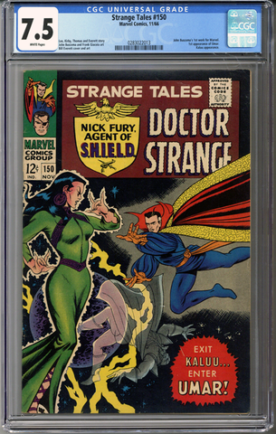 Colorado Comics - Strange Tales #150  CGC 7.5