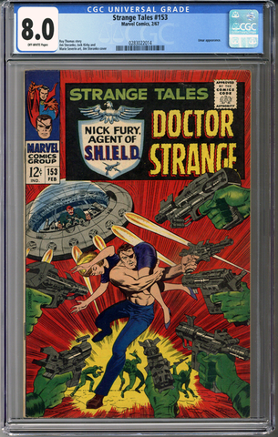 Colorado Comics - Strange Tales #153  CGC 8.0