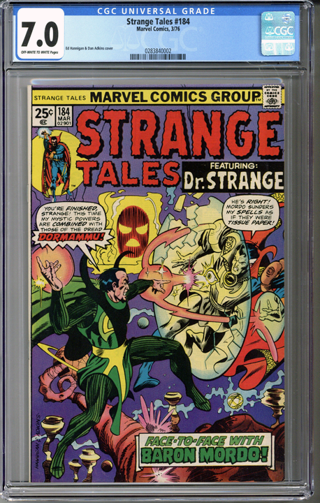 Colorado Comics - Strange Tales #184  CGC 7.0