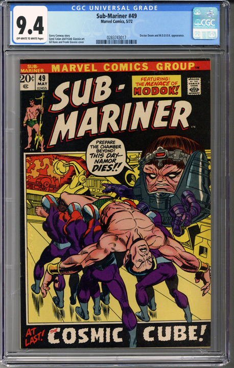Colorado Comics - Sub-Mariner #49  CGC 9.4