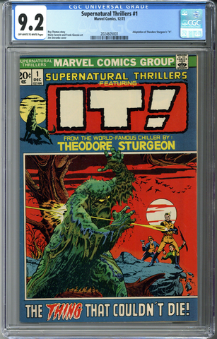 Supernatural Thrillers #1 CGC 9.2