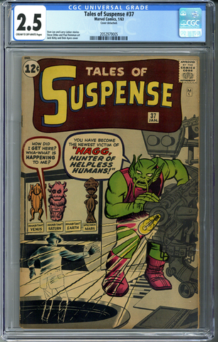 Tales of Suspense #37 CGC 2.5