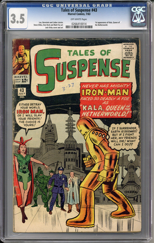 Colorado Comics - Tales of Suspense #43  CGC 3.5