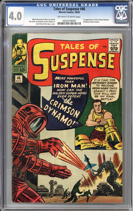Colorado Comics - Tales of Suspense #46  CGC 4.0