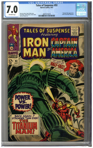 Tales of Suspense #93 CGC 7.0