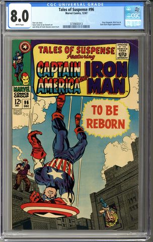 Tales of Suspense #96 CGC 8.0