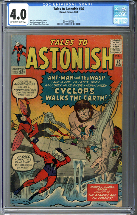 Tales to Astonish #46 CGC 4.0