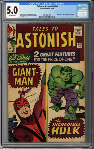 Colorado Comics - Tales to Astonish #60  CGC 5.0