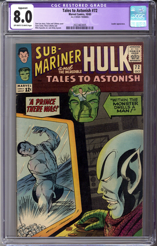 Tales to Astonish #72 CGC 8.0 Apparent