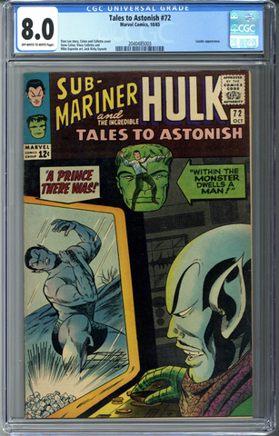 Tales to Astonish #72 CGC 8.0