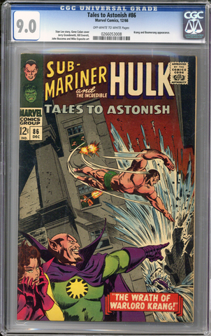Colorado Comics - Tales to Astonish #86  CGC 9.0