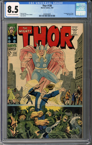 Colorado Comics - Thor #138  CGC 8.5