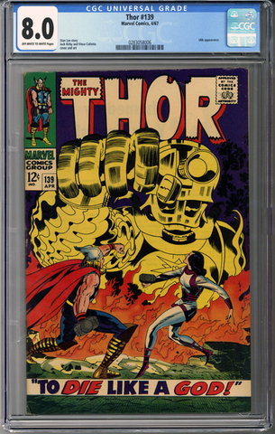 Colorado Comics - Thor #139  CGC 8.0