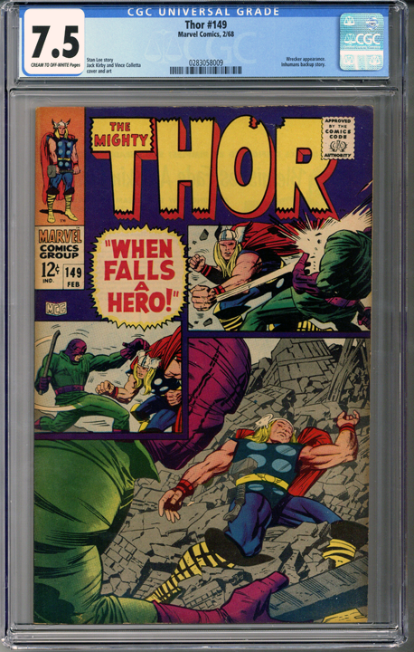 Colorado Comics - Thor #149  CGC 7.5
