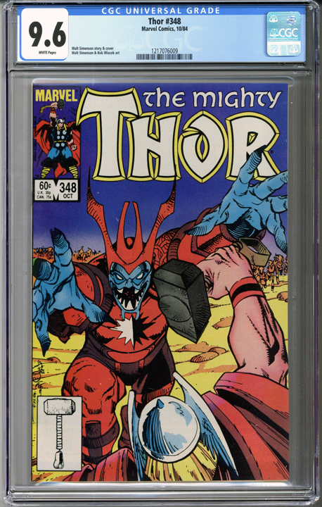 Colorado Comics - Thor #348  CGC 9.6