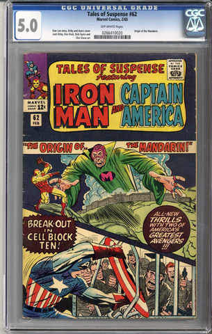 Colorado Comics - Tales of Suspense #62  CGC 5.0